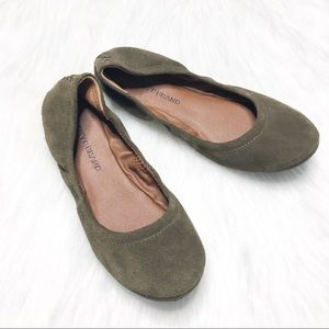 Lucky Brand | Olive Green Suede Flats